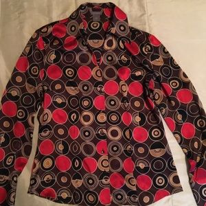 Ann Taylor Silk button down shirt.  Like New!